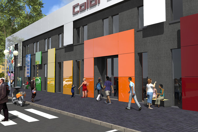 Projekt zmiany elewacji dla budynku przeznaczonego pod przedskole