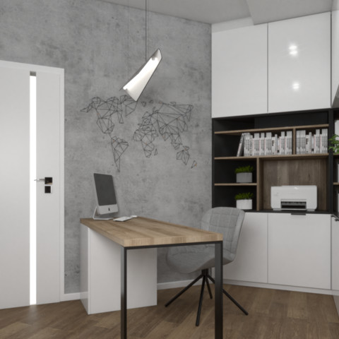 Nowoczesne biuro w domu pod Tarnowem