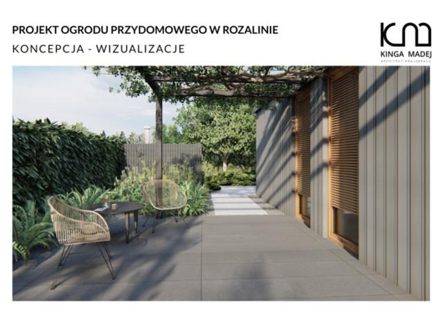 Ogród inspirowany stylem skandynawskim w Rozalinie