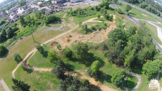 Obiekt w Olkuszu - skatepark, pumptrack, dirtpark, spot, tor rowerowy