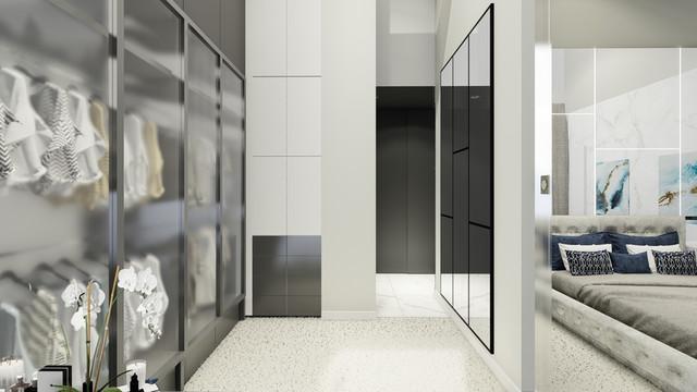 Elegancki apartament, część 1,proj. pow. 140 m2.