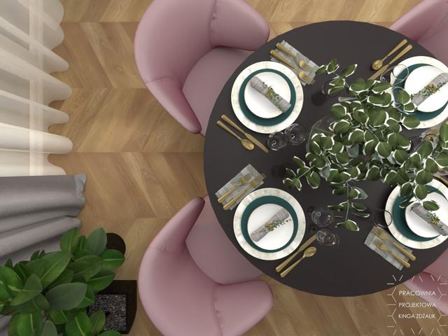 Kobiece mieszkanie z kwiatami w tle