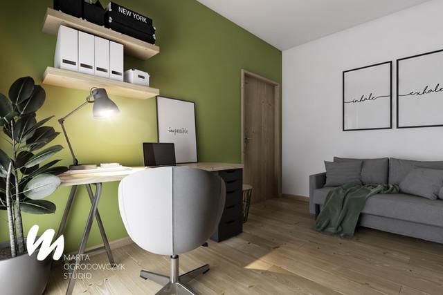 Zielony pokój do pracy