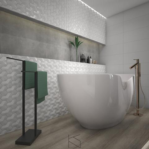 Łazienka - widok na strefę wanny