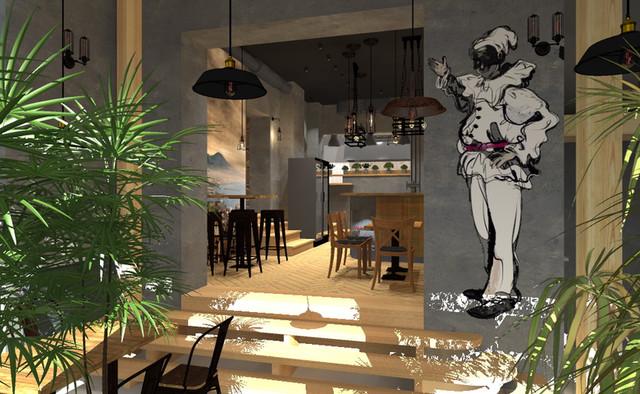 Kompleksowy projekt aranżacji restauracji Bella Napoli...